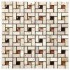 Плитка мозаики DSG1250 стеклянного камня смешанная