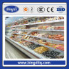 Congelador del supermercado, congelador de cristal de la puerta, congelador doble de la temperatura