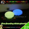 Wasserdichte glühende LED flache Solarkugel der nachfüllbaren Batterie-