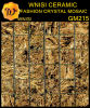 Mosaico misto di vetro/parete dorata del mosaico di arte (GM215)