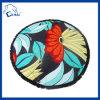Tovagliolo di spiaggia rotondo del pavone del cotone (QH90022)
