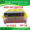 CE d'incubateur le meilleur marché d'oeufs de poulet de première vente le mini marqué (KP-36)