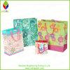 Saco de papel cosmético do presente luxuoso da impressão da flor