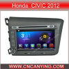 Reprodutor de DVD do carro para o reprodutor de DVD puro do carro do Android 4.4 com a tela de toque capacitiva GPS do processador central A9 Bluetooth para Honda Civic 2012 (AD-8201)