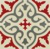 De Indische Rode Verglaasde Decoratie Tile20*20cm van de Stijl