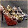 Chaussures neuves de pompe de talon haut de créateur ! Chaussures aiguës d'usager de tep de mode pour des femmes !