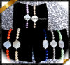 Form Jewelry Wholesale Druzy Agate Bracelets mit Pearl Beads (LW055)