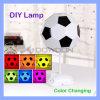 Светильник ухода за больным светильника стола света ночи светильника футбола USB DIY Handmade цветастый
