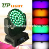 36PCS*18W RGBWA UV 6in1 LED 이동하는 헤드