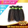 человеческие волосы Extensions Virgin Remy бразильянина 7A 22  Kinky Curl 100%