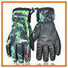 En cuir bon marché imperméabilisent chaudement des gants de ski