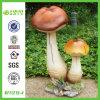 Ornement en gros de champignon de couche de jardin de résine (NF11215-4)