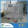 Хранение пакгауза складывая штабелирующ стальной контейнер ячеистой сети с рицинусами