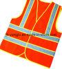 Veste reflexiva da segurança da segurança de tráfego da visibilidade elevada