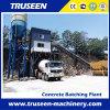 Tipo planta do transporte de correia da máquina da construção de mistura concreta de Hzs60