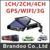 D1 Resolution、Support 3G/GPS、Model Bd301 Hot Sale From Brandooの4CH Car DVR