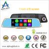 7  Gedankenstrich-Kamera des Auto-DVR manuelle des Spiegel-H. 264 androide GPS-Navigation Bluetooth FM