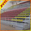 JY-706 de acero inoxidable de fútbol Movil abatible Asientos VIP telescópica retráctil de plástico del blanqueador
