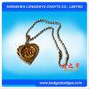 Modifica di cane su ordinazione del metallo dell'oro di figura 3D del cuore con la catena della sfera