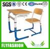 Bureau en bois et en métal de salle de classe et chaise simples (SF-52S)