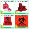 Bolso inútil médico de encargo plástico con la impresión de Biohazard