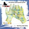 glatter überzogener Garten-Handschuh des Nitril-13G