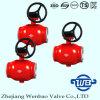 GOST Todos Weld muñón montado en la bola de acero Válvula DN500