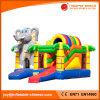 Moonwalk divertido del elefante del juguete inflable 2017 que salta la casa animosa (T3-614)