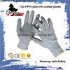 ранг покрынная PU отрезока 13G Гэри упорная работы перчатки уровня 3 и 5