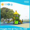 Casas plásticas del equipo del parque de atracciones para los cabritos barato para el jardín de la infancia