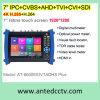 monitor video portable de la prueba del CCTV de 7  LCD para Ipc, Ahd, HD-Tvi, Cvi, cámaras de seguridad del Sdi de múltiples funciones