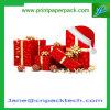 Rectángulo de empaquetado impreso aduana del rectángulo de la Navidad del regalo rígido del rectángulo de papel