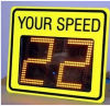 Piloto del tráfico de la muestra del radar de la velocidad de la señal de tráfico del precio bajo LED