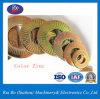 Colorer la rondelle à ressort latérale simple de rondelle de freinage de dent de l'acier du carbone de zinc Nfe25511