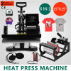 T-shirt de sublimation de transfert numérique Mug Hat 6in1 Heat Press Machine