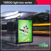 流行の屋外広告の表示バス停のライトボックス