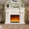 セリウムの公認のホーム家具3D LEDの彫刻の電気暖炉(320S)