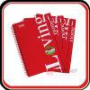 Kundenspezifisches inneres Drucken-Leder-gewundenes Notizbuch mit elastischem Band