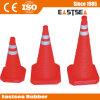 Cone retrátil plástico do tráfego do ABS baixo vermelho (RTC-30)