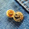Заклепка джинсыов латунная никеля свободно & бессвинцовая (RV00109)