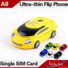 A8 удваивают цвета полосы карточки SIM сотовый телефон типа формы автомобиля двойного дешевого миниый