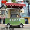 Grüner mobiler Nahrungsmittelschlußteil-LKW