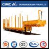 Cimc Huajun 3axle Lowbed Semi Trailer met Zijgevel en Pillar
