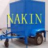 Zuiveringsinstallatie van de Olie van de Transformator van vier Wielen van de Auto de Vacuüm, de Machine van de Reiniging van de Olie