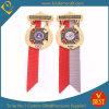 Qualitäts-Großverkauf kundenspezifische Firmenzeichen-Metalldecklack-Ebenen-Medaille mit Farbband