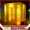 De prachtige Tent van de Cabine van de Foto van de Kubus Opblaasbare met de Volledige Lichten van de Gloed
