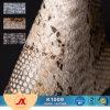 Het Synthetische Leer die van pvc van het Kunstleder van het Patroon van Snakeskin het Leer van pvc Faux voor Zakken in reliëf maken