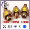 Guarnición de cobre amarillo métrica de la manguera del bastidor de Bsp SAE Jic de la fuente de la fábrica
