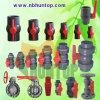 Robinet à tournant sphérique en plastique de PVC de contrat de qualité