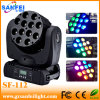 12*10W de Disco CREE 4in1 LED Beam Moving Head Light van DJ